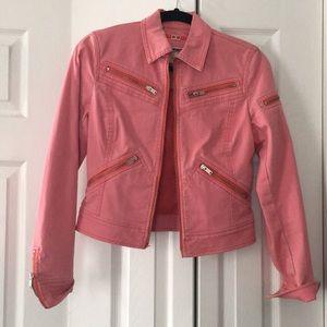 Denim Jacket- Pink